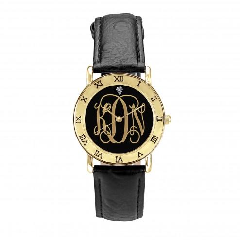 Classic Monogram Goldtone Watch Personalized Jewelry