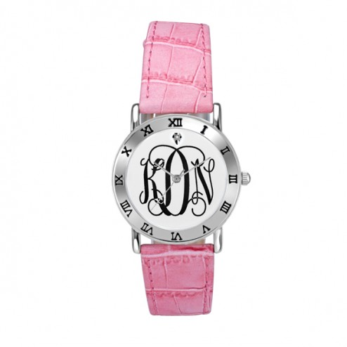 Ladies Classic Monogram Watch 32 mm Personalized Jewelry