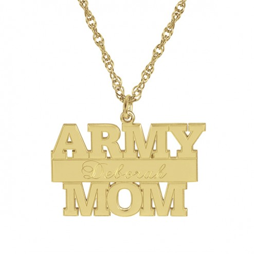 Army Personalized Pendant 14 x 24 mm Personalized Jewelry
