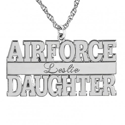 Airforce Personalized Pendant 16 x 30 mm Personalized Jewelry