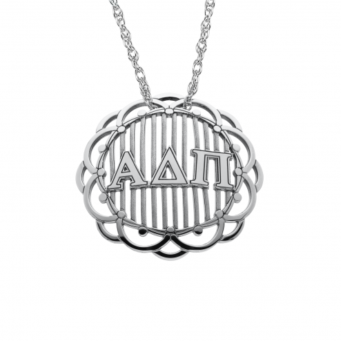 Domed Greek Letters Pendant Personalized Jewelry