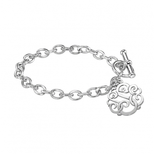 Classic Monogram Toggle Bracelet 20 mm Personalized Jewelry