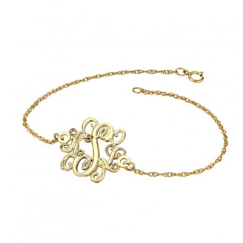 Traditional Monogram Bracelet 20 mm Personalized Jewelry
