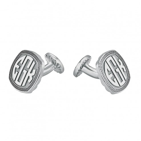 Cushion Original Monogram Cufflinks 18 mm 87990 Personalized Jewelry