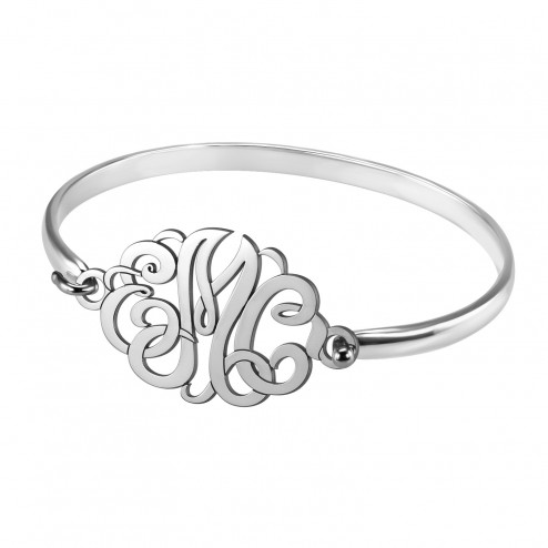Alison and Ivy Classic Monogram Bangle (22x33mm)