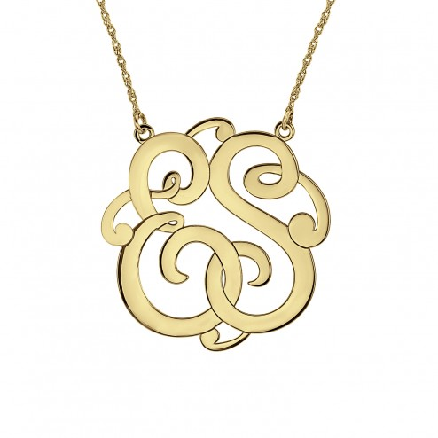 Classic 2 Initial Monogram Necklace