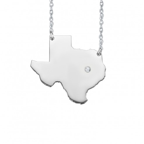 Home Is Where the Heart Is State Diamond Necklace (26mm)