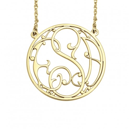 Ivy Halo Monogram Necklace