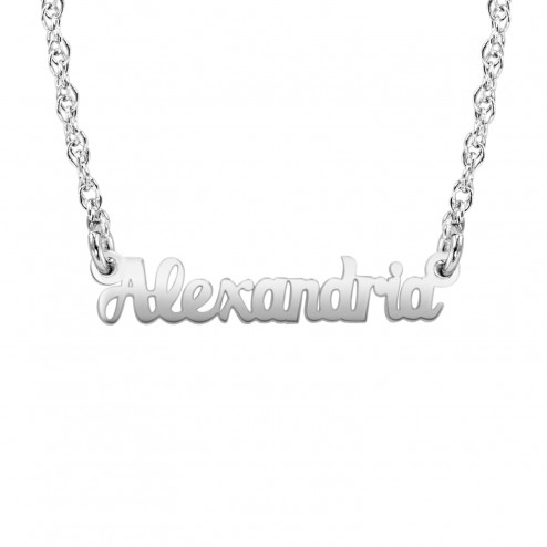 Mini Fashion Name Necklace 4x20mm