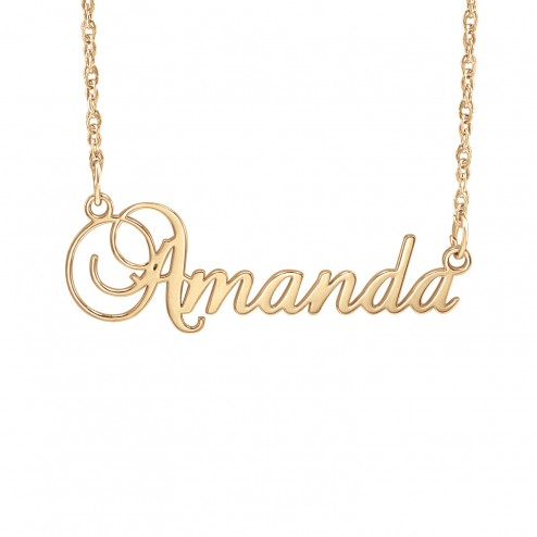 Cursive Name Necklace 11.5x36mm