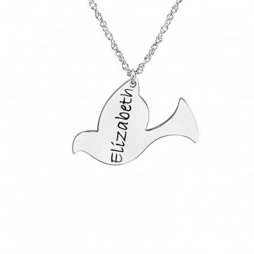 Bird Shape Name Pendant (20mm)