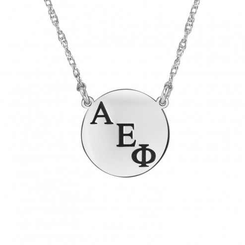 Personalized Round Greek Initials Sorority Necklace 16mm