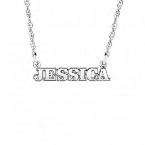 Mini Fashion Name Necklace Approx 4 x 21.5mm