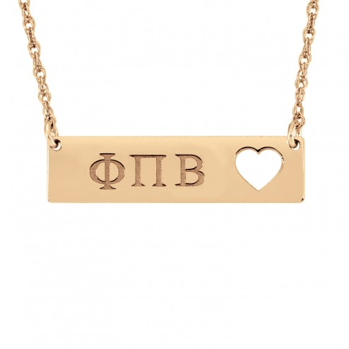Cutout Heart Sorority Jewelry Greek Bar