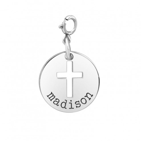 Personalized Initial Disc Pendant 20 mm 88209P1 Personalized Jewelry