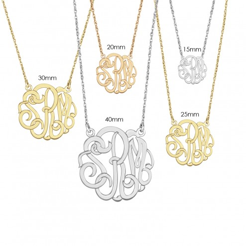 Alison and Ivy Classic Monogram Sizes