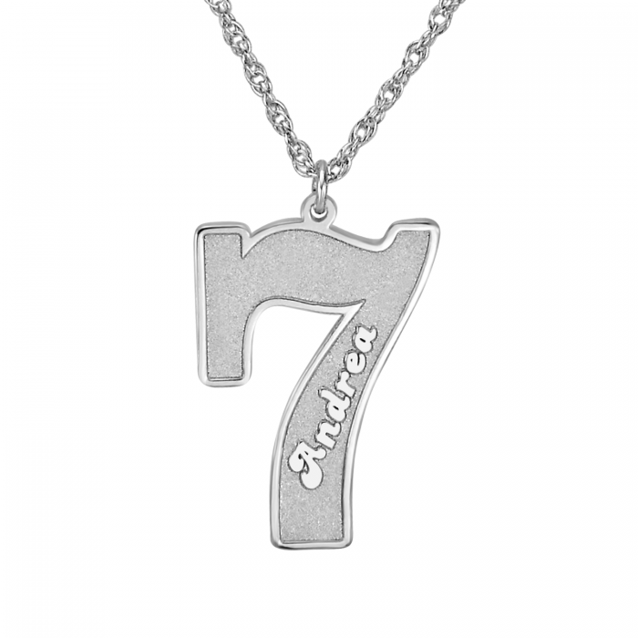 Sports number pendant personalized jewelry aloadofball Image collections