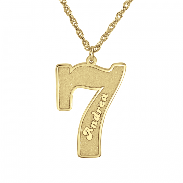 sports number pendant personalized jewelry