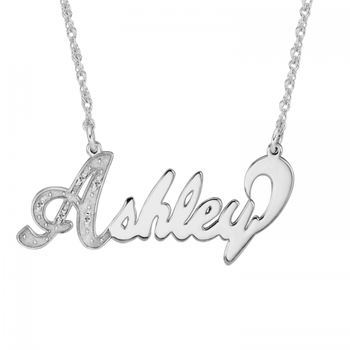 diamond name necklace personalized jewelry. Black Bedroom Furniture Sets. Home Design Ideas