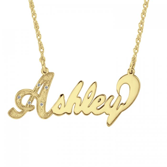 Diamond Name Necklace Personalized Jewelry