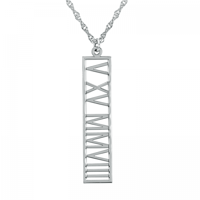 anniversary her date for with necklace numerals women roman
