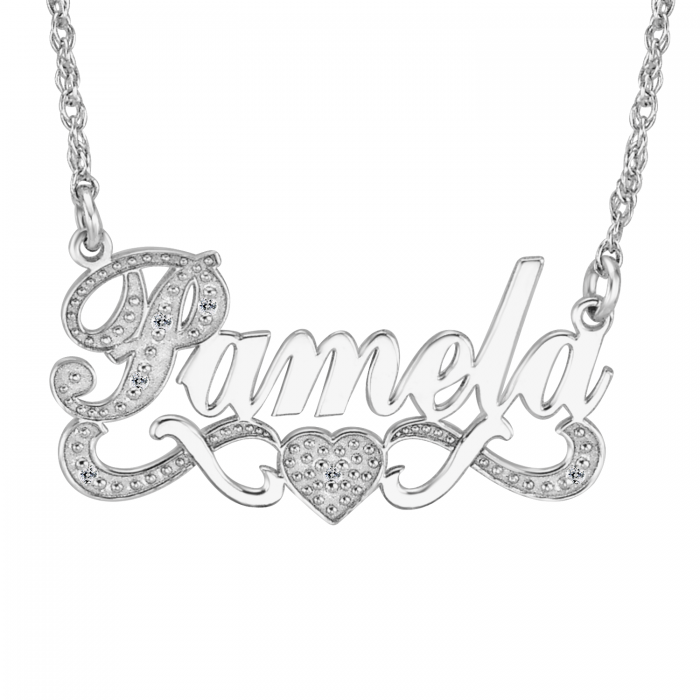 Diamond name necklace 86634 personalized jewelry aloadofball Images