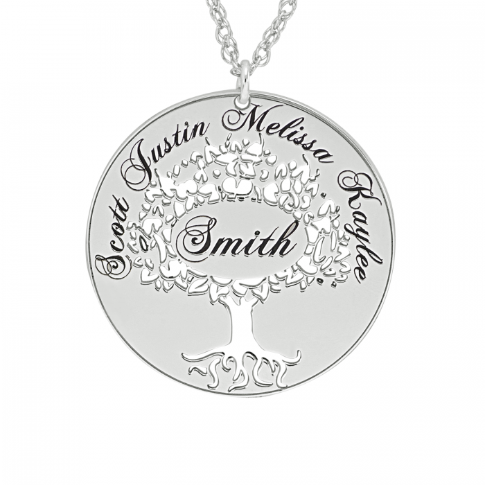 charmed gift lilycharmed family personalised product tree with message by life lily of necklace original