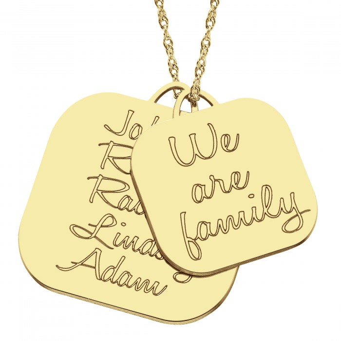 We are family pendant 28x28mm personalized jewelry we are family pendant 28 x 28 mm personalized jewelry aloadofball Images