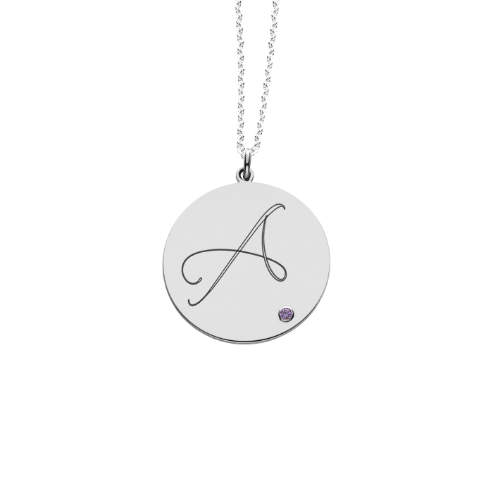 Initial pendant with birthstone accent personalized initial pendant with birthstone accent personalized jewelry aloadofball