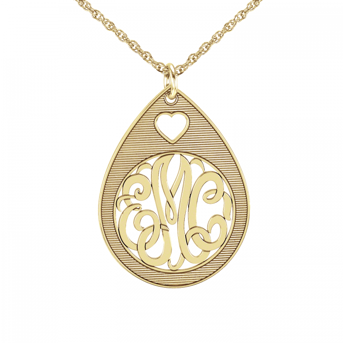 Classic monogram pendant 30mm personalized jewelry classic monogram pendant 30 mm personalized jewelry mozeypictures Image collections