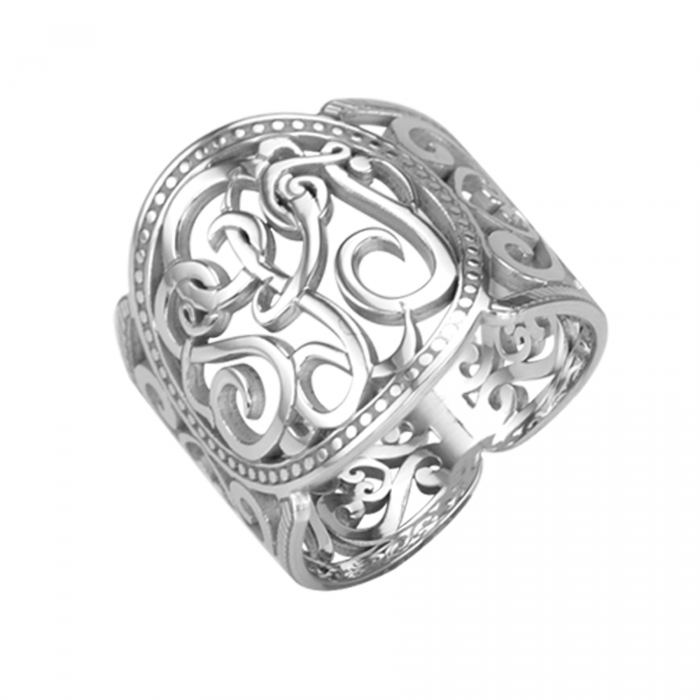 Classic Cigar Band Ring 18mm Personalized Jewelry