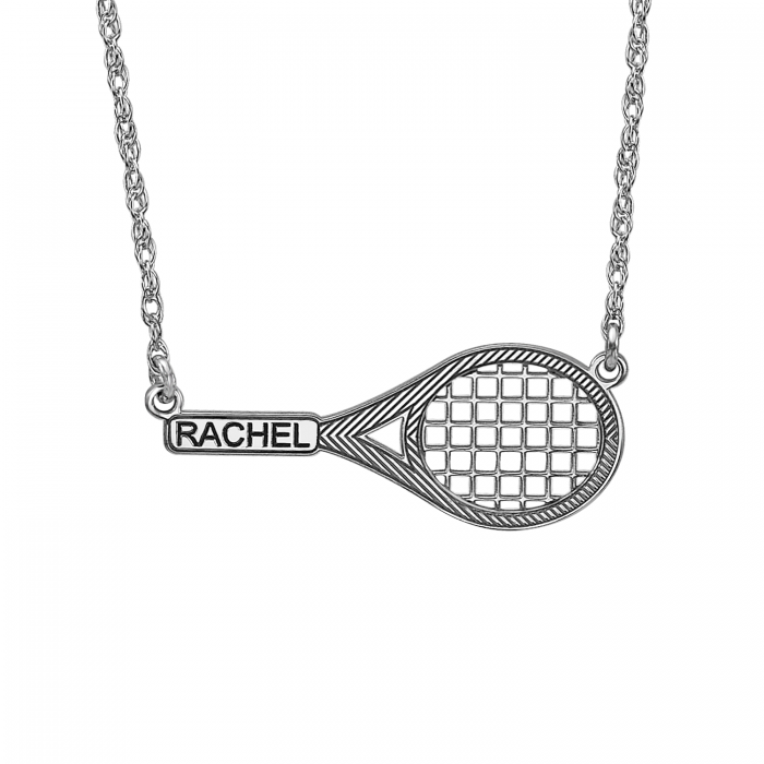 The perfect tennis racket necklace 12x29mm personalized jewelry the perfect tennis racket necklace 12 x 29 mm personalized jewelry mozeypictures Gallery