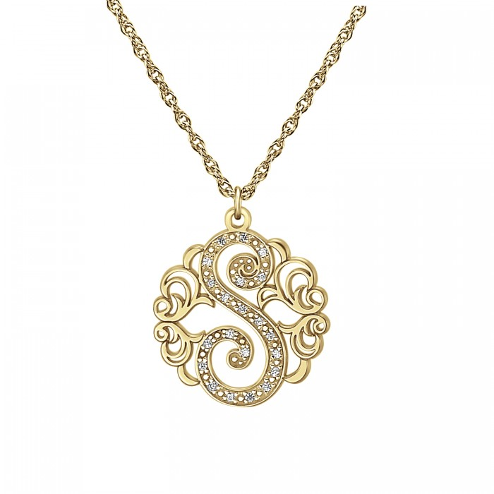 single initial necklace 20mm personalized jewelry