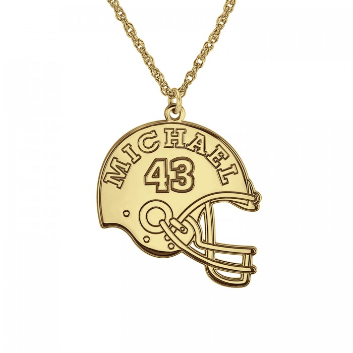 football helmet name pendant 24mm personalized jewelry