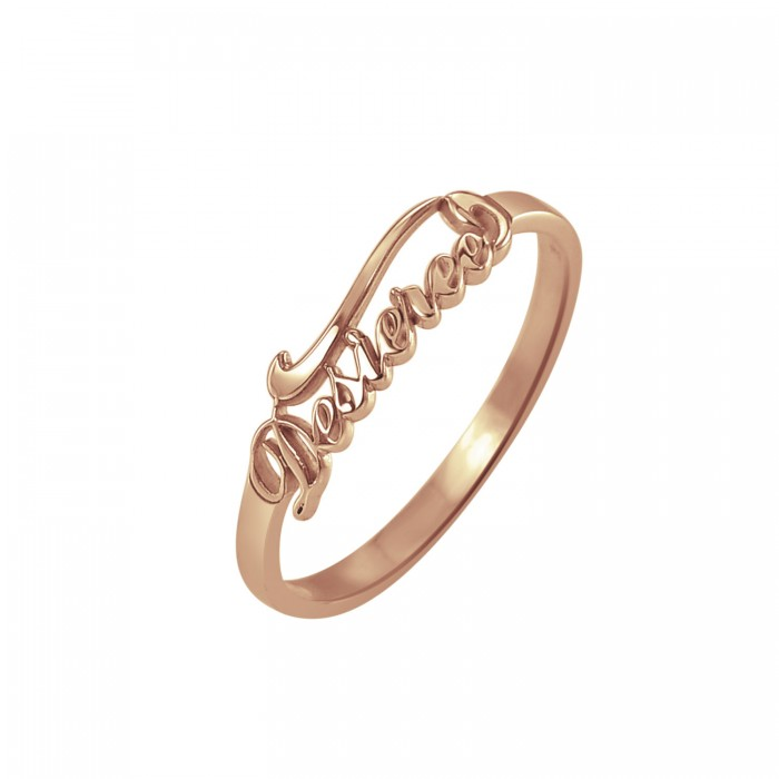 Ivy Scroll Bands: Scroll Name Ring Personalized Jewelry