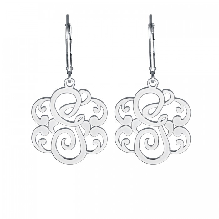 earrings stud monogram main material monogrammed studs product