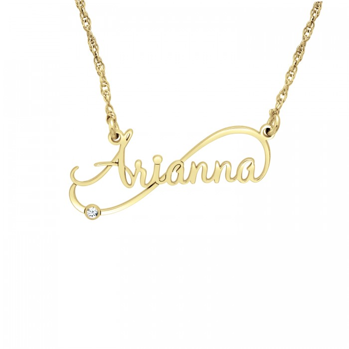 diamond personalized name necklace personalized jewelry. Black Bedroom Furniture Sets. Home Design Ideas