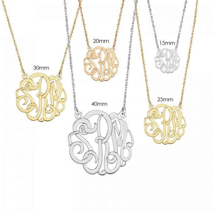 alison and classic monogram necklace 40mm