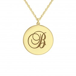 Graceful Initial Pendant 20mm