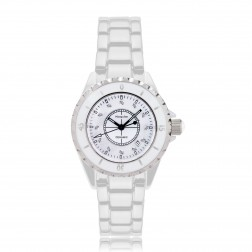 Ladies White Ceramic Watch 34mm (LIMITED EDITION)