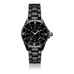 Ladies Black Ceramic Watch 34mm (LIMITED EDITION)