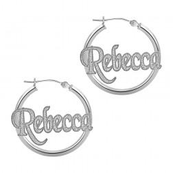 Textured Hoop Earrings 25mm