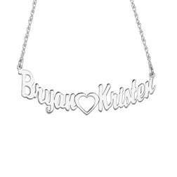 Open Heart Couples Necklace