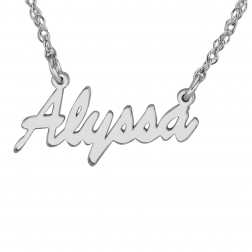 Simple Tiny Name Necklace