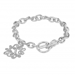Traditional Monogram Toggle Bracelet 20mm