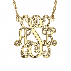 Traditional Monogram Personalized Necklace 40mm