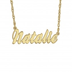 Cursive Name Plate Necklace