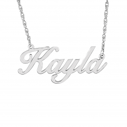 Script Name Necklace (14x32mm)