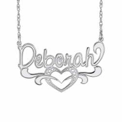 Heart Name Plate