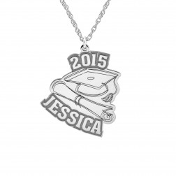 Graduation Name Date Necklace